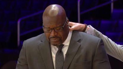 """Shaquille O'Neal breekt tijdens zijn hommage aan Bryant: """"Mijn ziel verliet mijn lichaam toen ik het nieuws vernam"""""""