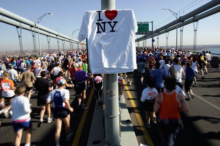 Glaser maakte van de zin 'I love New York' een logo. Het zijn geen woorden, maar toch is het een boodschap. En het hartje maakt dat de boodschap emotionele lading krijgt die de zin mist. Beeld AFP