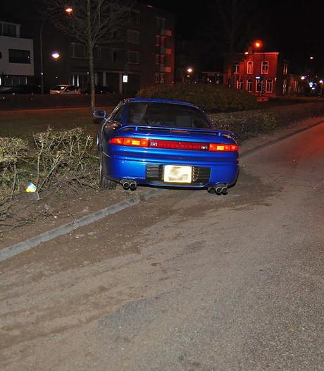 Dronken automobilist rijdt in Waalwijk bosjes in
