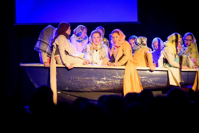 De kindermusical 'Gevlucht', een musical over vluchtelingen.