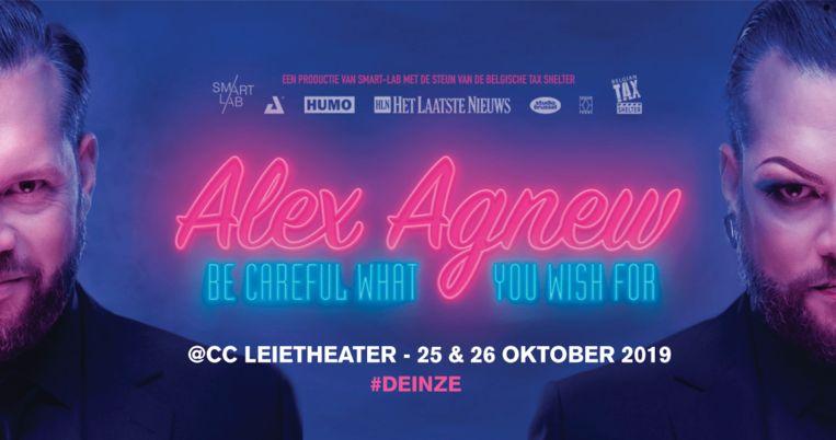 Alex Agnew  komt ook naar Leuven maar de fans moeten wel geduld hebben tot april 2020.