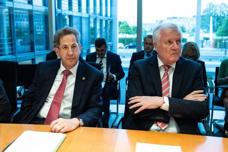 Hans-Georg Maassen (l.) naast minister van Binnenlandse Zaken Horst Seehofer.