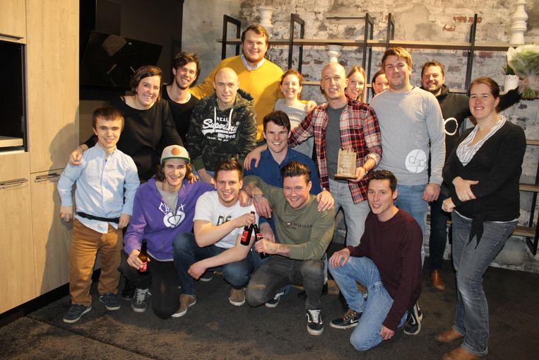 De ploeg van Jong CD&V Eeklo samen met de ploeg van Diep Events.