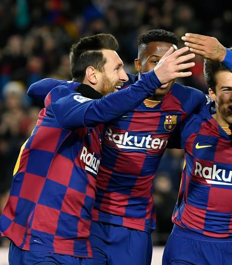 Barça komt onder Setién pas los na rood Granada