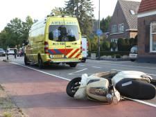 Bestuurder van snorscooter loopt flinke hoofdwond op bij eenzijdig ongeluk in Boxtel