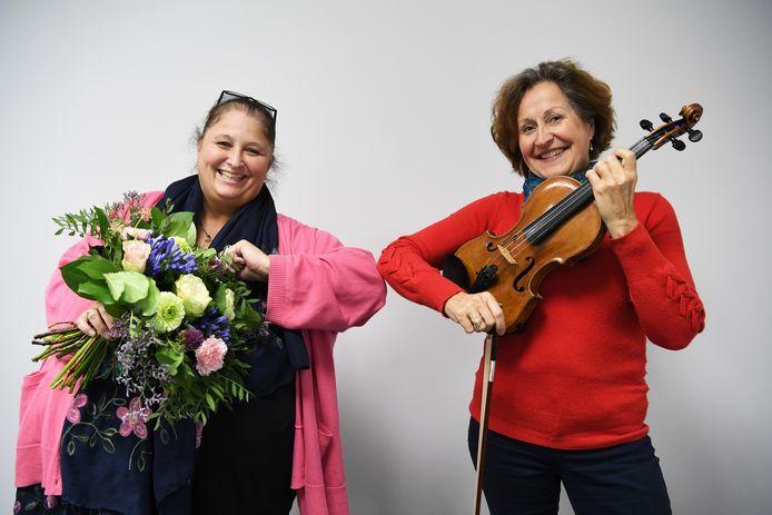 Theodora Geraets gaat masterclasses viool geven in Breda. Dat de bekende violiste naar West-Brabant komt, is mede te danken aan de inzet van Gon Wassenaar (l)