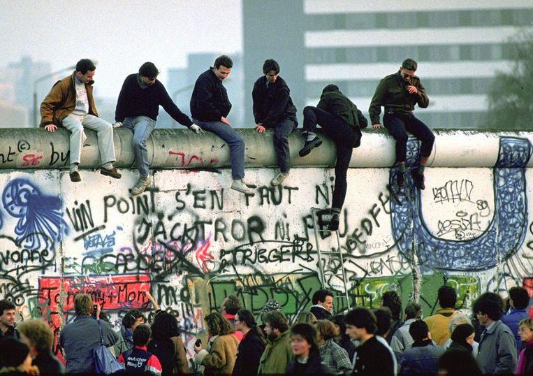 De openstelling van de grens Oost-en West-Duitsland.  Beeld ANP