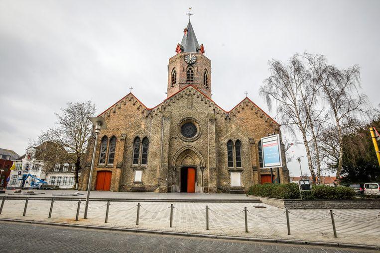 De kerk van deelgemeente Eernegem.