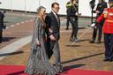 Prinses Laurentien en Prins Constantijn dinsdag bij de Grote Kerk.