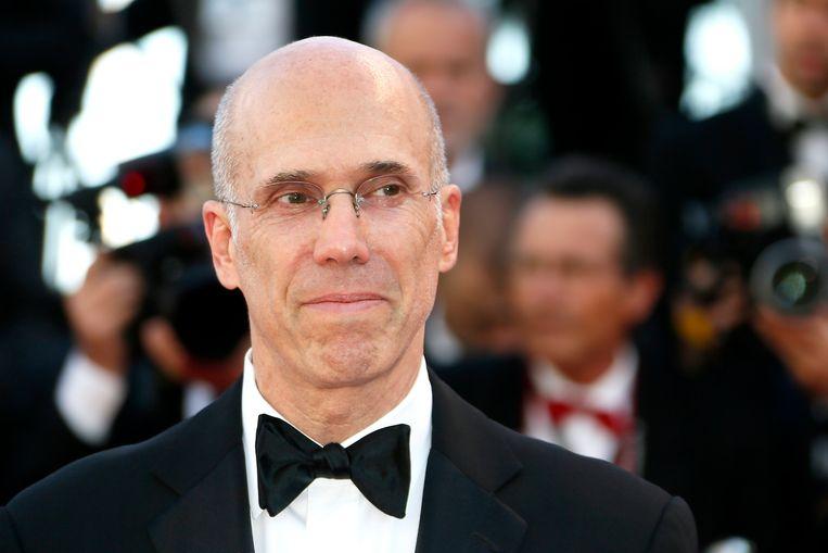 Hollywood-icoon Jeffrey Katzenberg bij de première van de film Okja Beeld EPA