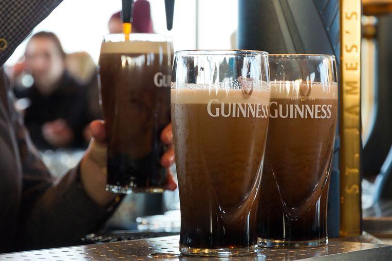 Pints van het bier Guinness.