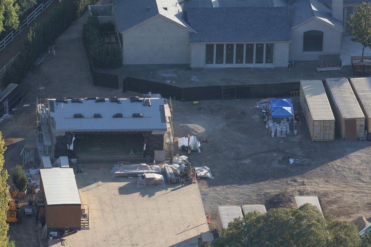 De Hidden Hills villa, nog ten tijde van het renovatieproces in november van dit jaar.