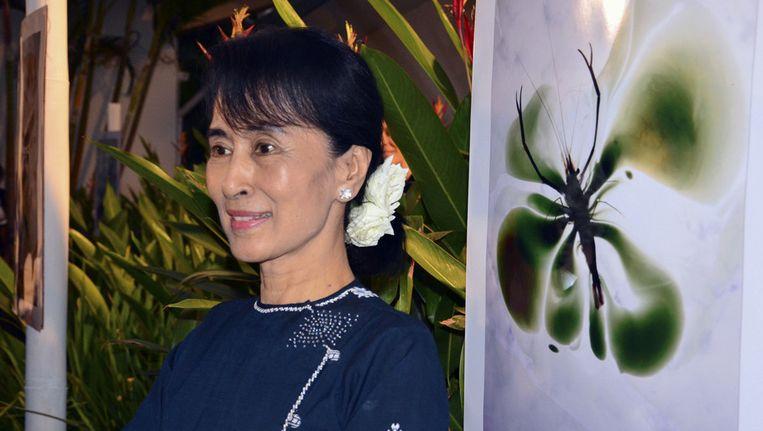 Aung San Suu Kyi. Beeld ap
