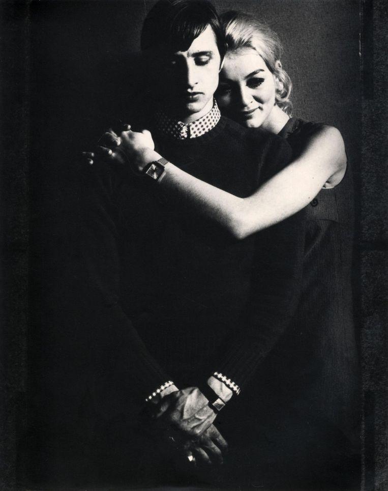 Johan Cruijff met zijn verloofde Danny, november 1968 Beeld hollandse hoogte/ spaarnestad Photo