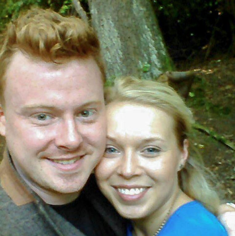 Chris Nelson met zijn vriendin Stefanie Kollross. Beeld Eigen foto