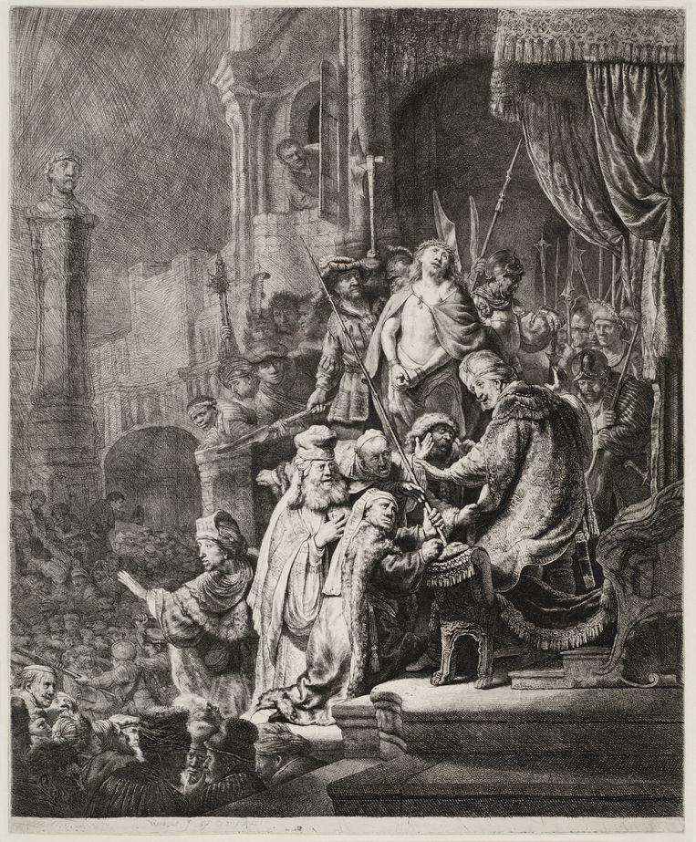 Rembrandt, Christus voor Pilatus, 1636. Beeld Collectie Rembrandthuis
