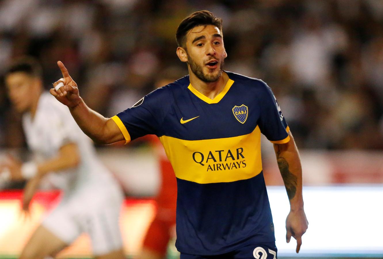 Eduardo Salvio viert zijn goal.
