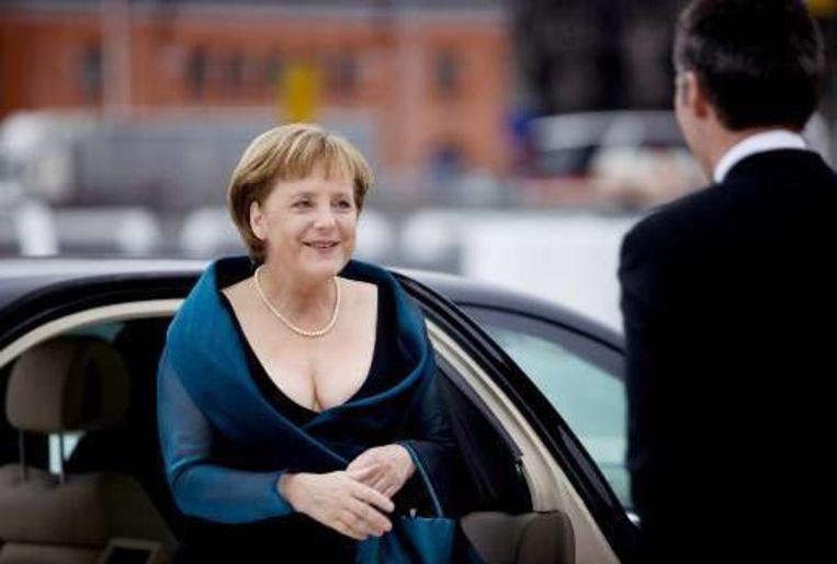 Merkel was -als operaliefhebber- in Oslo voor de opening van de nieuwe opera.