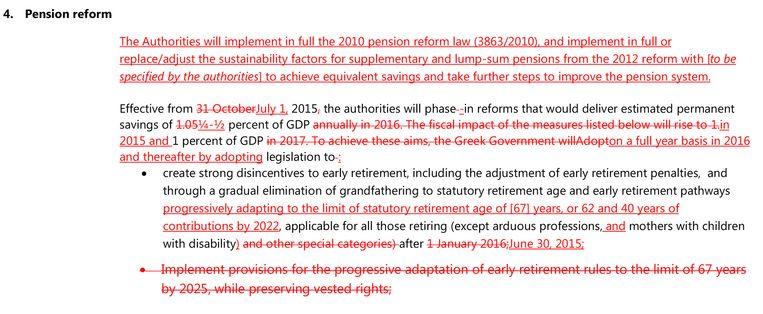 Wijzigingen in de voorstellen voor de pensioenhervorming.