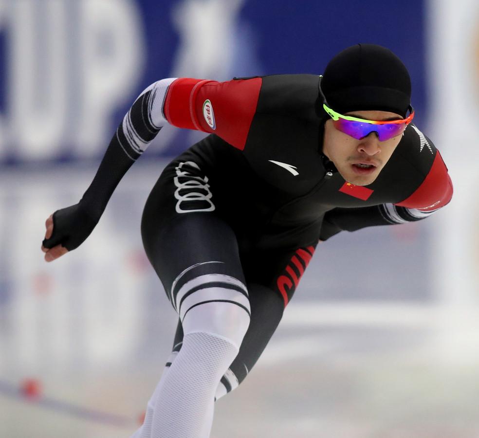 Ning op weg naar zijn verrassende zege op de 1500 meter in Nur-Sultan.