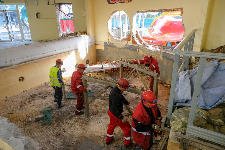 Afbraak Océade: De laaste dag voor men de sloophamer in het gebouw zet.