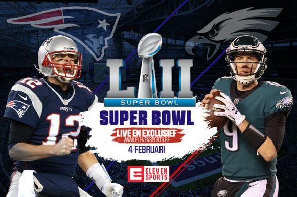 In de 52ste Super Bowl nemen de New England Patriots het op tegen de Philadelphia Eagles.
