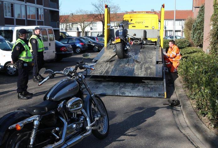 Op 2 april 2013 werden twee Harley Davidsons in beslag genomen. Archieffoto: Bart Meesters/Meesters Multimedia