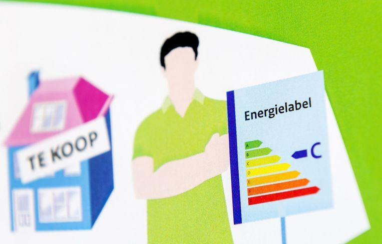 Een folder met uitleg over de energielabel voor woonhuizen. Beeld anp