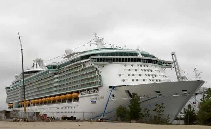 """Le paquebot """"Freedom of the Seas""""."""