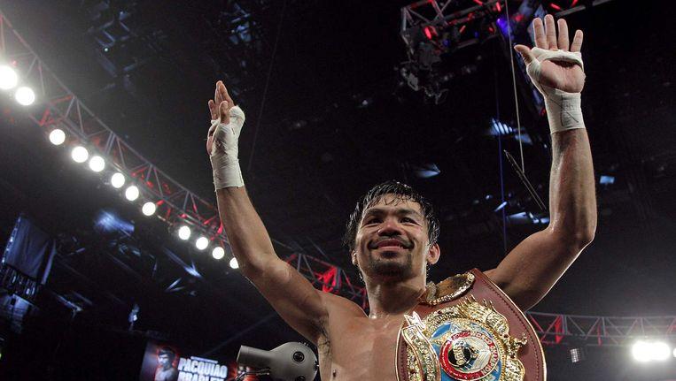 Manny Pacquiao na zijn laatste gevecht. Beeld afp