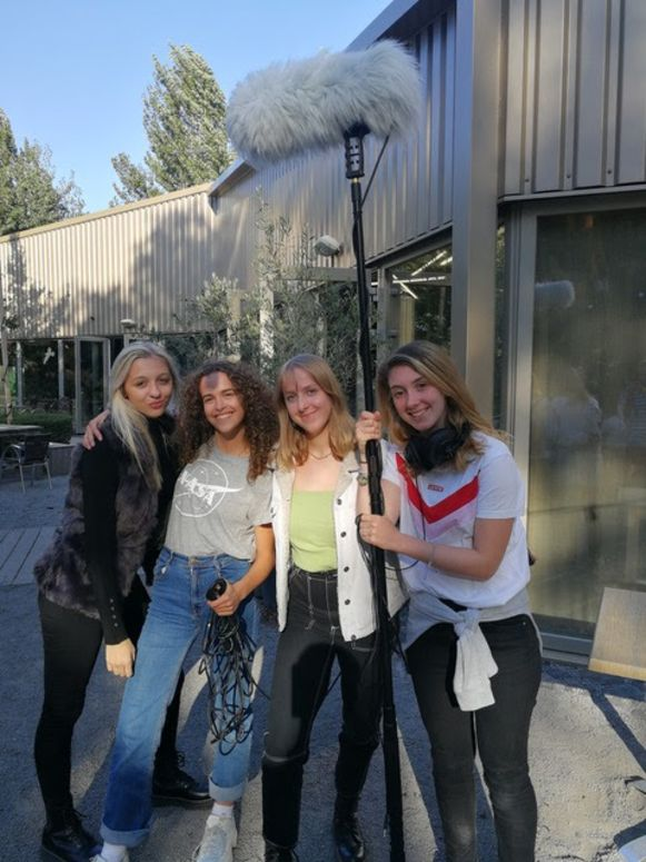 De leerlingen van Jan Fevijn mochten zelf een film helpen maken.