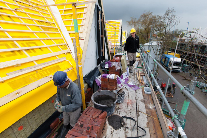 Nieuwbouw in de Bloemhofstraat, Alphen aan den Rijn.