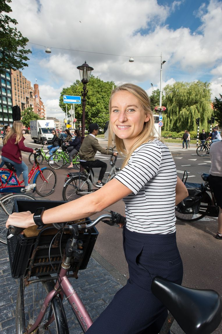 'Zie haar als de pedalerende equivalent van de nachtburgemeester' Beeld Mats van Soolingen