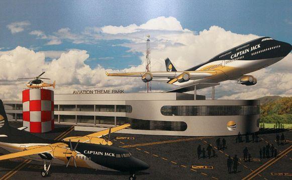 Een toekomstbeeld van Captain Jack. Luchtvaart zou het centrale thema worden.