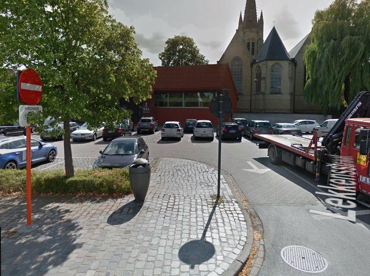 Het Kerkplein in Rumbeke.