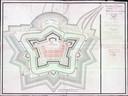 Fort en Batterie Impériale (Fort Frederik Hendrik) bij Breskens zoals getekend door kapitein Guilly op 20 november 1811 - NA, 4.OPV, B 289 uit boek: Rudi Rolf, Napoleons forten aan de Schelde