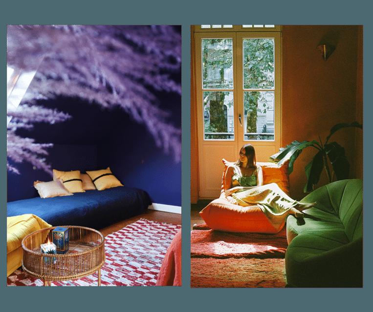 Uniek aan beide gastenverblijven is het interieur. De gedurfde kleuren, exotische prints en rijke stoffen geven een excentrieke sfeer.