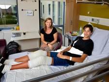Na medische ingreep in MMC Veldhoven hoeft Yannick (13) straks niet te bukken voor elke deur