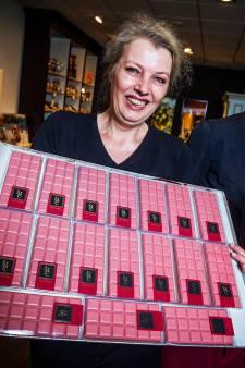 Primeur in Rotterdam: roze chocolade