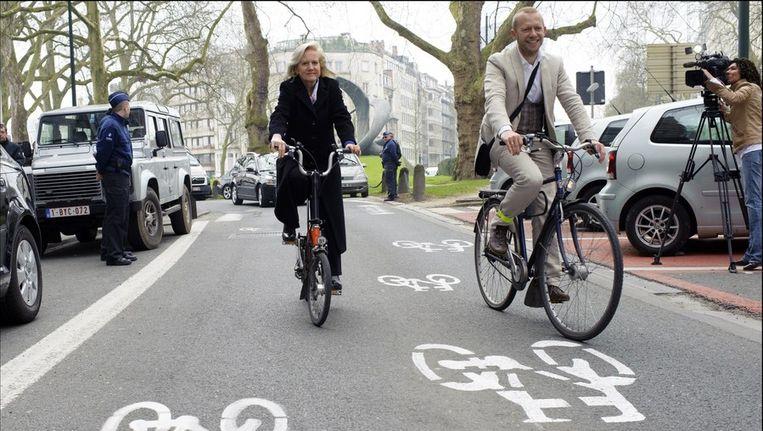 Staatssecretaris Bruno De Lille (rechts) is zelf een fervent fietser.