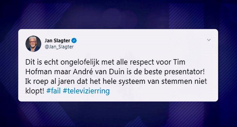 Jan Slagter twitterde zijn frustratie van zich af. Beeld