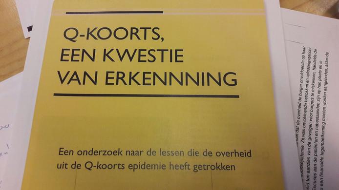 Het rapport 'Q-koorts , een kwestie van erkenning'.