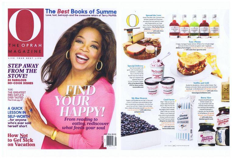 Oprah siert nog steeds de cover van haar eigen magazine.
