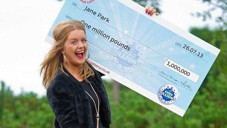 Op haar 17de won Jane 1 miljoen pond.