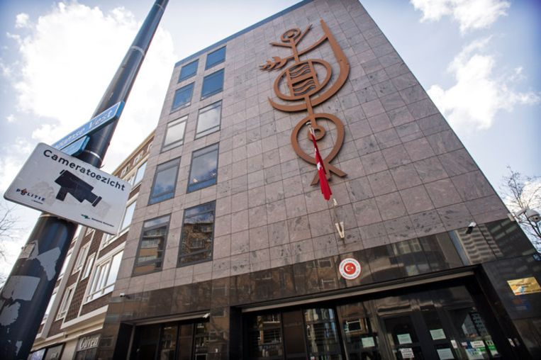 Het Turkse consulaat aan de Westblaak.