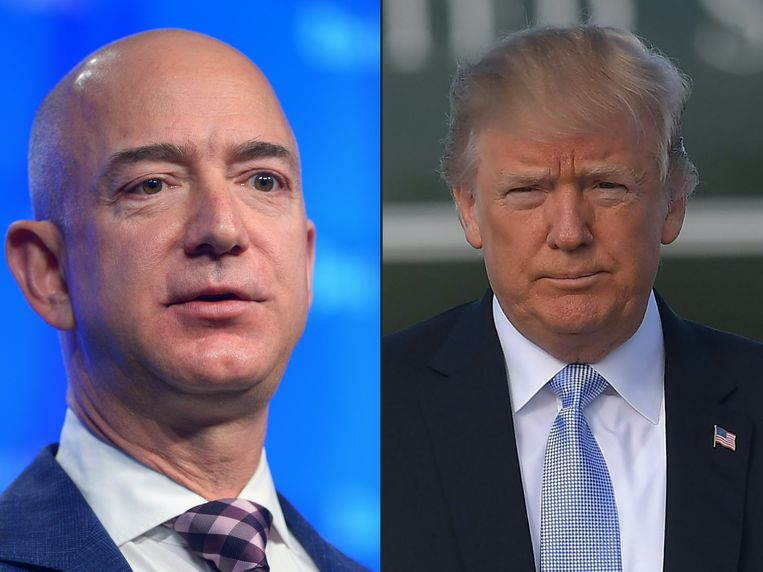Jeff Bezos  van Amazon en Donald Trump