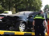 Automobiliste slipt over de weg en belandt in sloot in Sint-Oedenrode