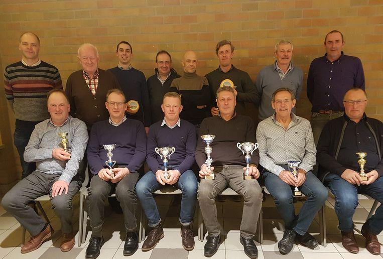 De kampioenen van de jaarlijkse kaarting van de Landelijke Gilde.