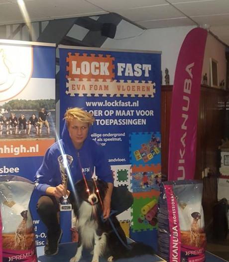 Daan (15) uit Den Ham is Nederlands kampioen dogfrisbee