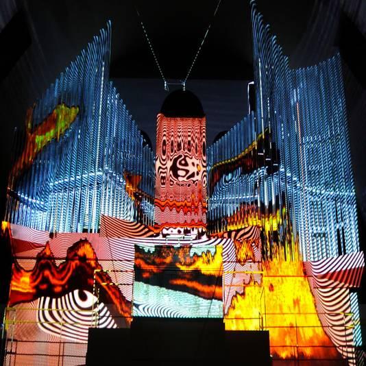 Beam me up Bach! brengt Bach op het orgel in de Grote Kerk samen met videokunst van Jaap Drupsteen